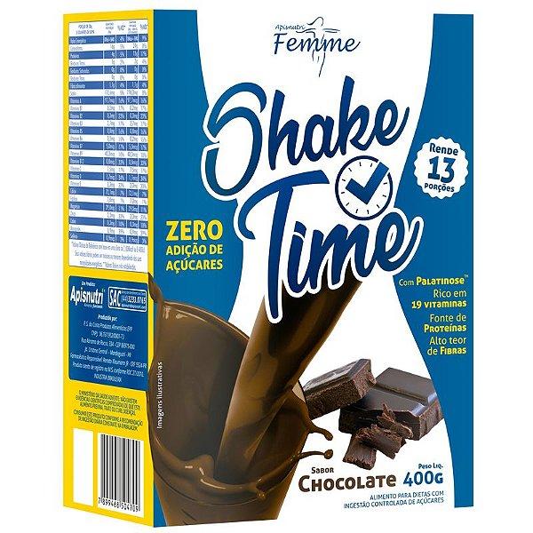 Shake Time Substituto de Refeição Apisnutri Chocolate 13 porções