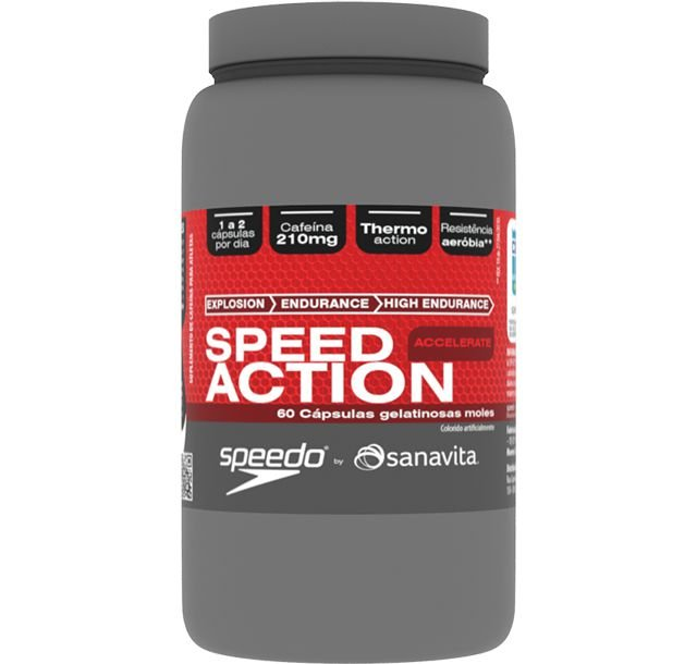 Speed Action Accelerate Pré Treino Speedo by Sanavita 60caps