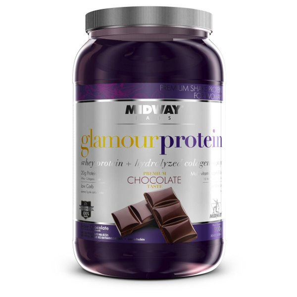Whey Protein Com Colágeno Glamour Midway 900g