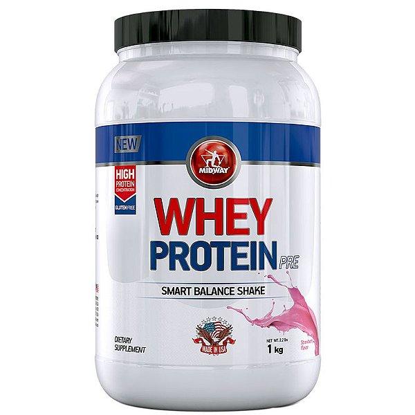 Whey Protein Pre Midway 1Kg Morango