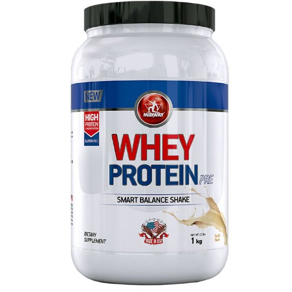 Whey Protein Pre Midway 1Kg Baunilha