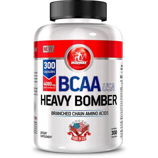 BCAA Heavy Bomber Midway 300 cápsulas