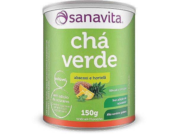 Chá Verde Sanavita 150g Abacaxi e hortelã