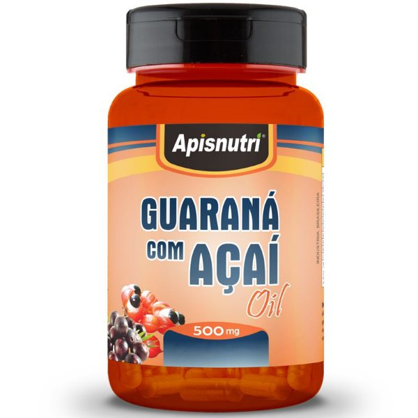 Guaraná com Açaí 500mg Oil Apisnutri 120 Cápsulas