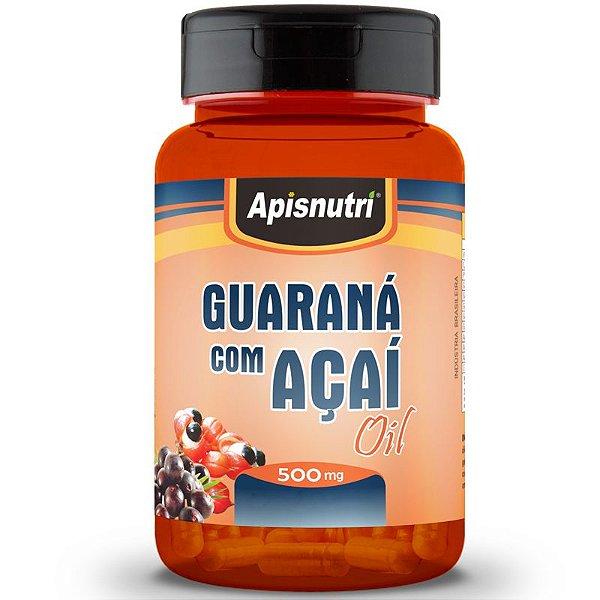 Guaraná com Açaí 500mg Oil Apisnutri 60 Cápsulas