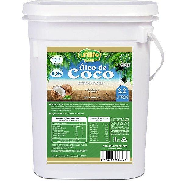 Óleo de Coco Extra Virgem Unilife 3,2 litros