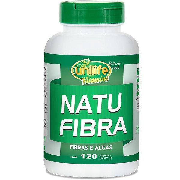 Natu Fibra Emagrecedor 600mg Unilife 120 cápsulas