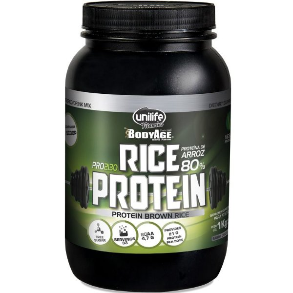 Rice Protein Proteína de Arroz Unilife 1kg Chocolate