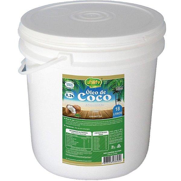 Óleo de Coco Extra Virgem Unilife 18 litros