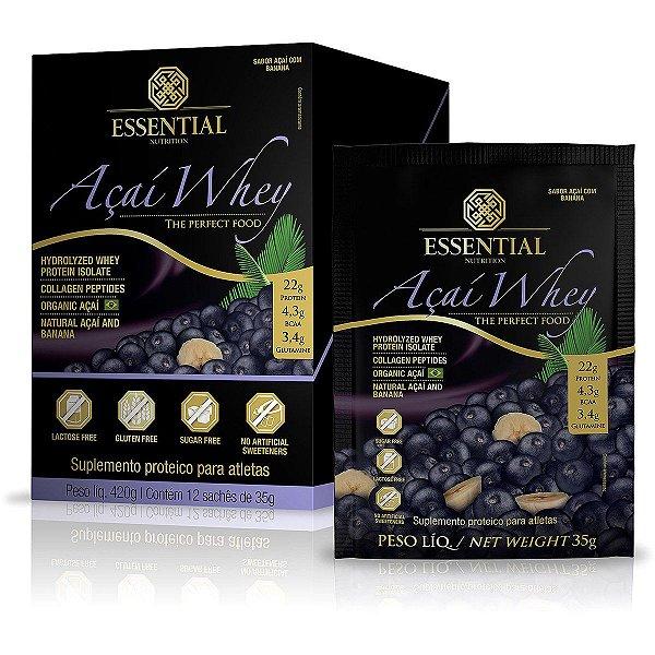 Açaí Whey Protein Essential Nutrition Sachê  12 x 35g