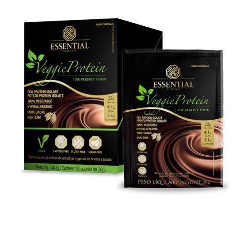 Veggie Cacao Protein Essential Nutrition Sachê 15 x 30g