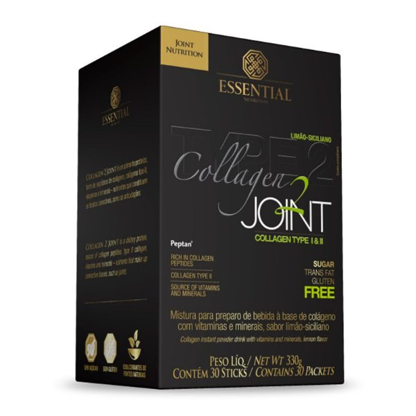 Collagen Joint Colágeno tipo 2 Essential Nutrition Limão