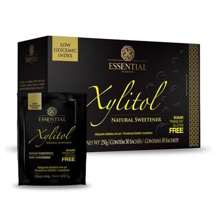 Xylitol Display 50 Sachês de 5g Essential Nutrition