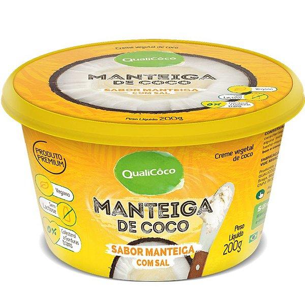Manteiga de Coco Qualicoco 200g Natural com sal