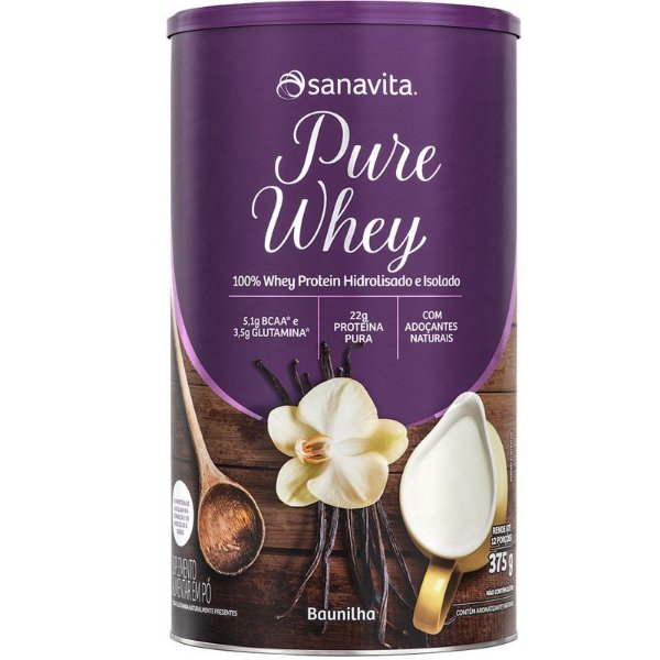 Whey Protein 100% H.I Sanavita Baunilha 375g
