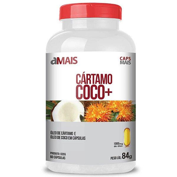 Óleo de Cartamo + Óleo de Coco 1000mg Chá Mais 60 cápsulas
