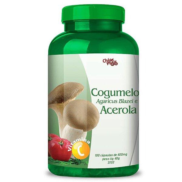 Cogumelo Agaricus Blazei + Acerola Chá Mais 100 cápsulas