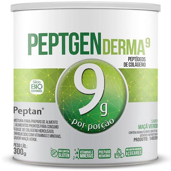 Colágeno Hidrolisado Premium Peptan 9g Chá Mais 300g Maçã Verde