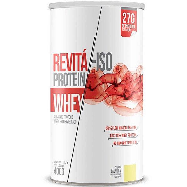 Whey Protein Isolado 27g Revitá 400g Baunilha