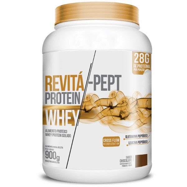 Whey Protein Isolado Pept 28g Revitá 900g Chocolate