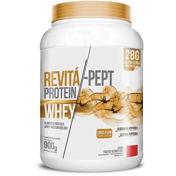 Whey Protein Isolado Pept 28g Revitá 900g Frutas Vermelhas