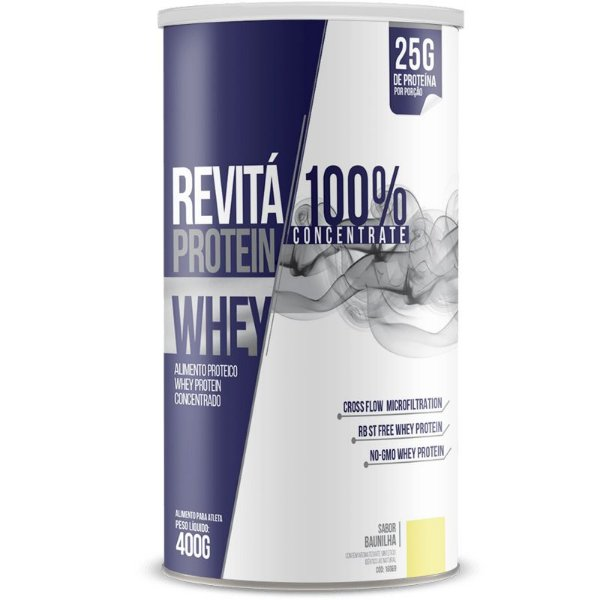 Whey Protein Concentrate 25g Revitá 400g Baunilha