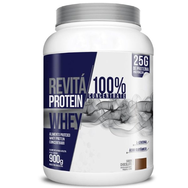 Whey Protein Concentrate 25g Revitá 900g Chocolate