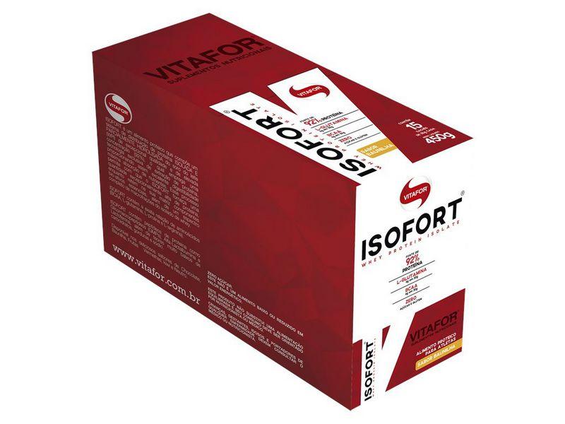 Whey Protein Isofort Vitafor 15 saches Baunilha