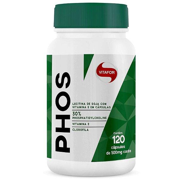 Lecitina de Soja Phos Fosfatidilcolina Vitafor 120 cápsulas
