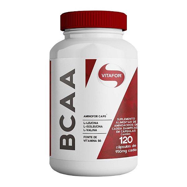 Aminofor BCAA Vitafor 120 cápsulas