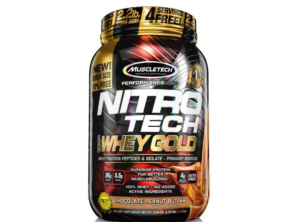 Nitro tech Whey Gold Muscletech 1,02kg Chocolate Peanut Butter