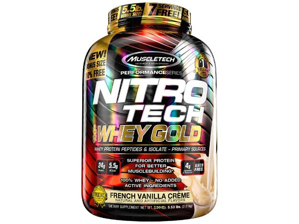 Nitro tech Whey Gold Muscletech 2,51kg French Vanilla Creme