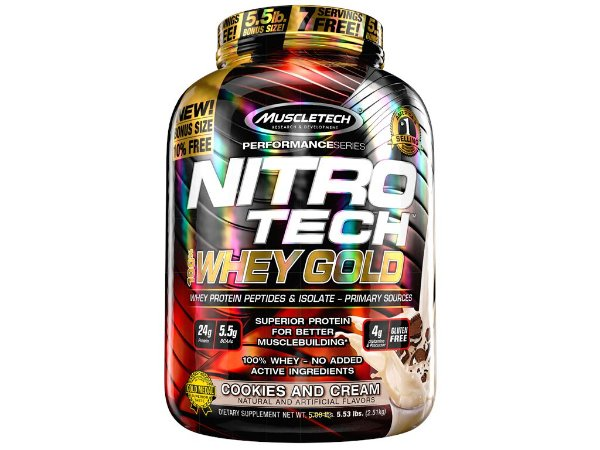 Nitro tech Whey Gold Muscletech 2,51kg Cookies and Cream