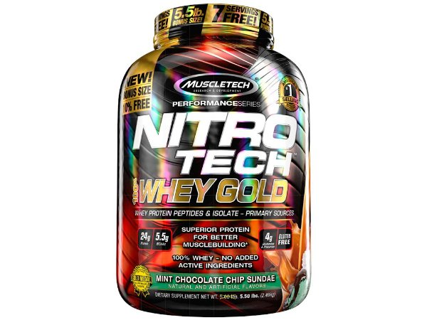 Nitro tech Whey Gold Muscletech 2,49kg Mint Chocolate Chip Sundae