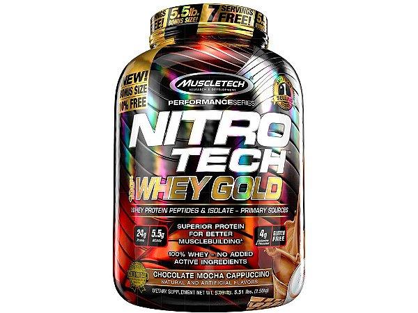 Nitro tech Whey Gold Muscletech 2,50kg Chocolate Mocha Cappucino