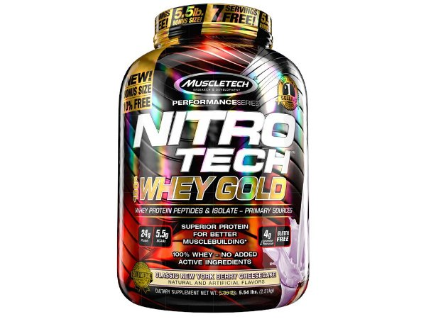 Nitro tech Whey Gold Muscletech 2,51kg Classic New York Berry Cheesecake