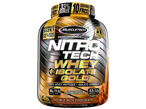 Nitro tech Whey Gold Isolate  Muscletech 1,81kg Chocolate