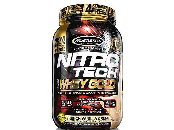 Nitro tech Whey Gold Muscletech 1,02kg French Vanilla creme