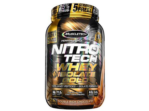 Nitro tech Whey Gold Isolate Muscletech 907g Chocolate