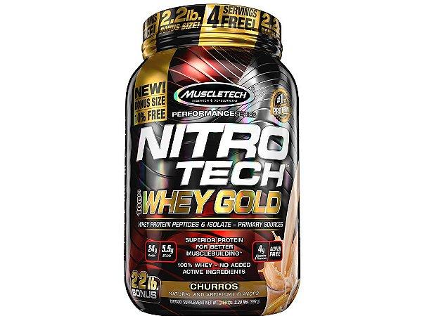 Nitro tech Whey Gold Muscletech 999g Churros