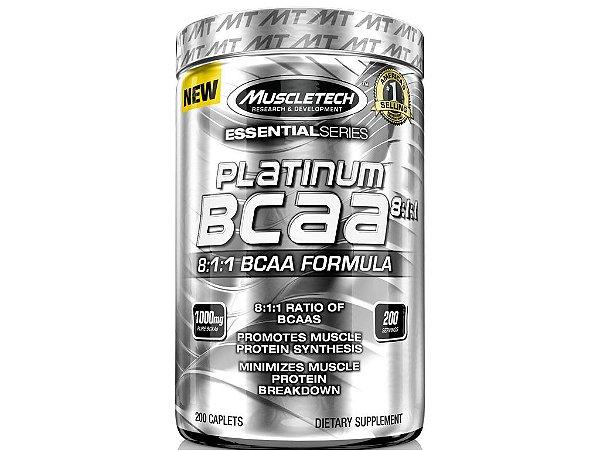 Platinum Bcaa 8:1:1 Muscletech 1000 mg 200 tablets