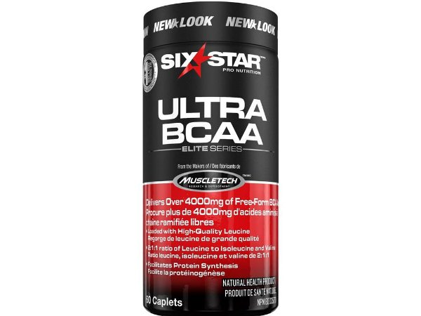 Ultra BCAA Six Star by Muscletech 60 Tablets 4000 mg 5 tablets
