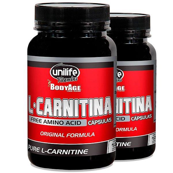 Kit 2 L-Carnitina 1900MG Unilife 120 cápsulas