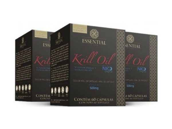Kit - 3 Óleo de Krill Essential 60 Cápsulas