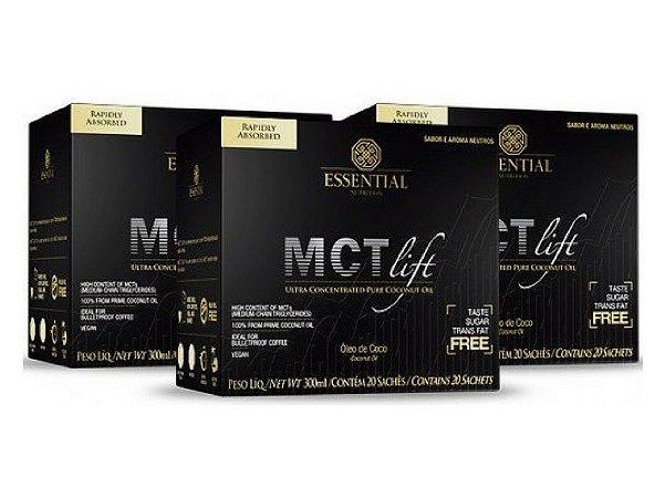 Kit - 3 MCT Lift Óleo de Coco Essential 20 Sachês