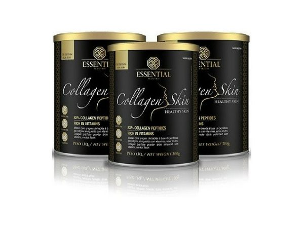 Kit - 3 Colágeno Essential Collagen Skin Neutro 300G