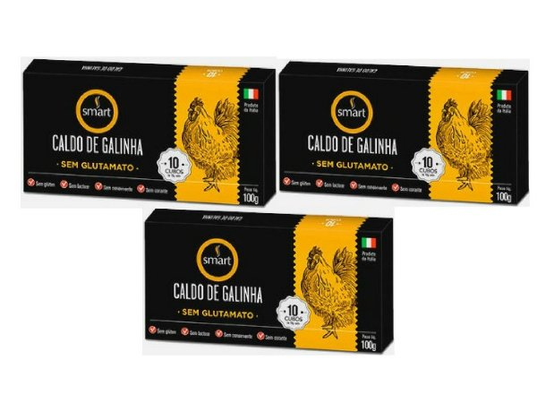 Kit - 3 Caldo de Galinha Smart 100g