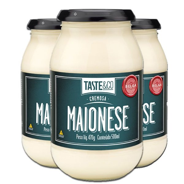 Kit - 3 Maionese Taste & Co Classica 470g