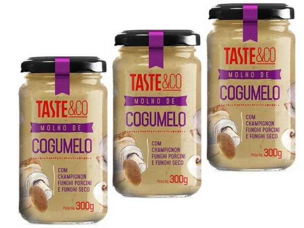 KIT - 3 Molho de Cogumelo Taste & Co 300g