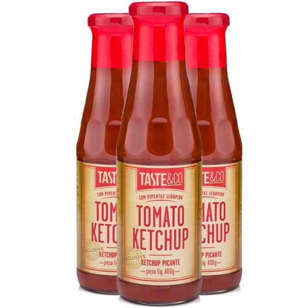 Kit - 3 Ketchup com Pimenta Scorpion Taste & Co 400g